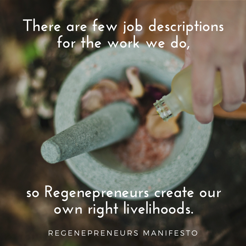 Create Livelihood (with Regenepreneurs & Manifesto)